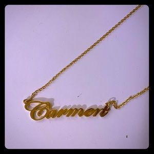 "Jewelry - Personalized ""Carmen"" name necklace"